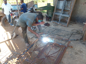 Tanzania village entrepreneur welding