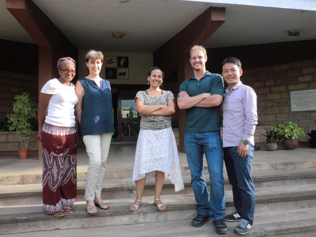 Jordan and Yoshiki (far right) with Researchers in icipe, Mbita