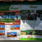 Biogas posters spotted around town, and a biogas banner promoting the stall at the agricultural show.