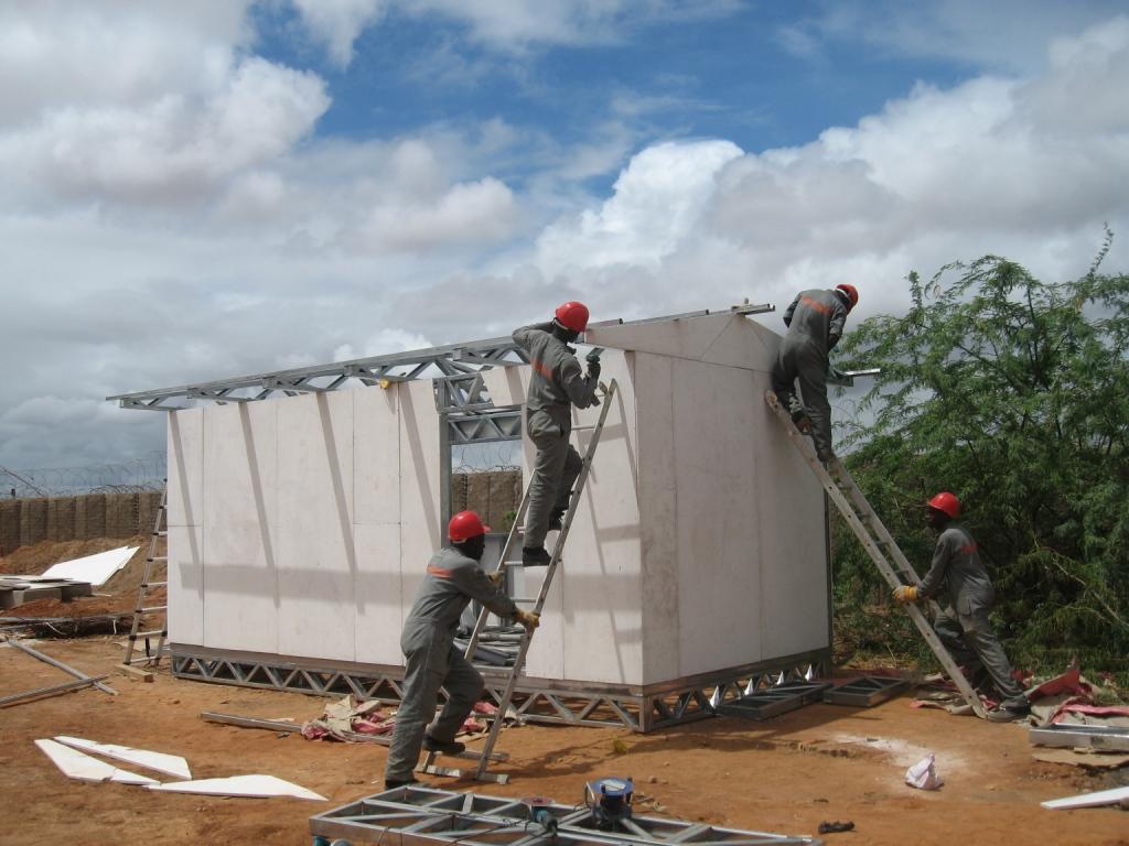 Solar Classroom Construction Dadaab Kenya - World's Largest Refugee Camp
