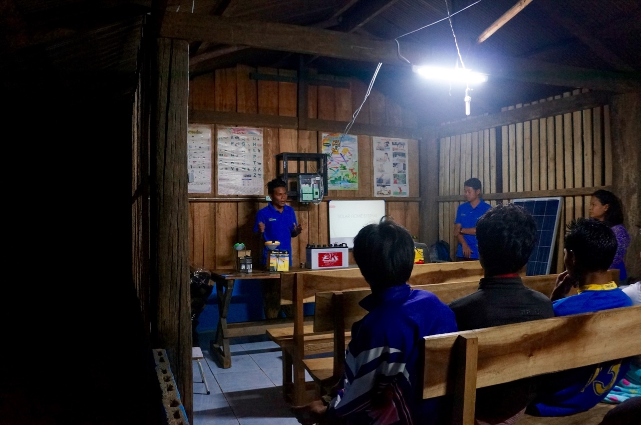 Village meeting-explaining about our project and products in Mae Hong Son