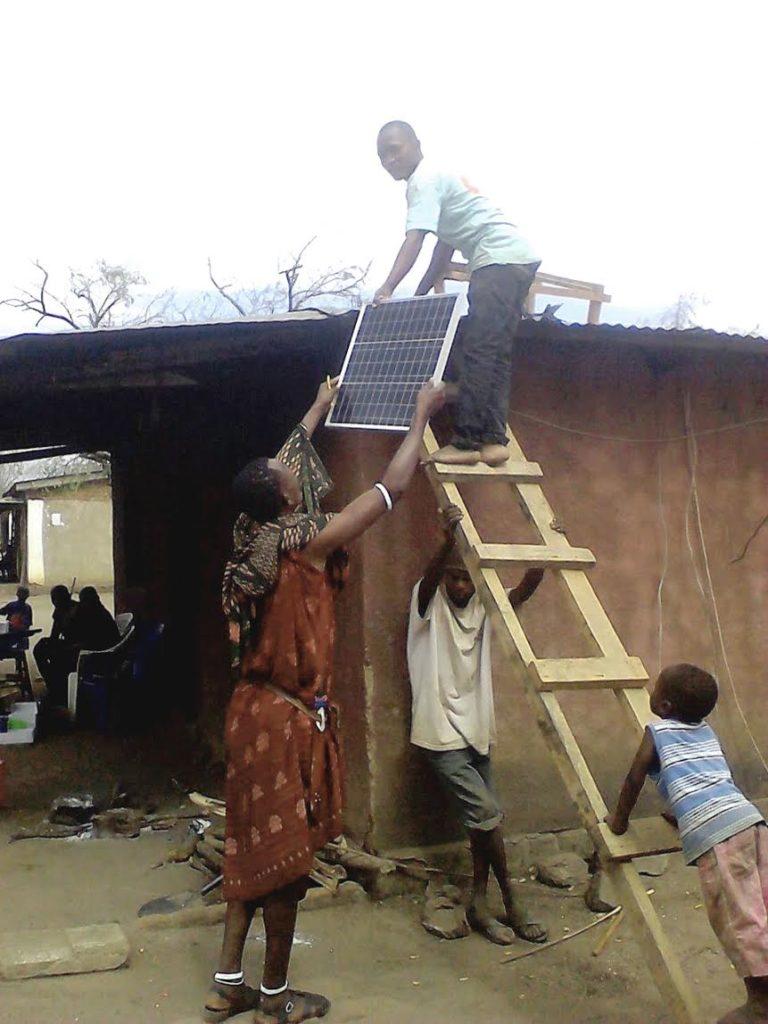 Installation of solar panels on Juabar media hub