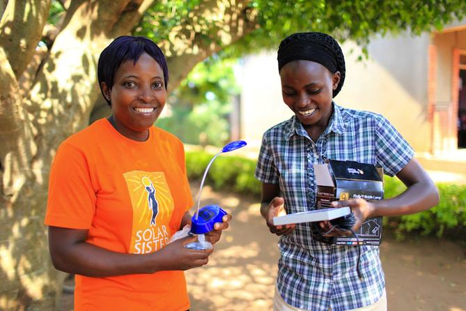 Solar Sister entrepreneurs. Courtesy of Solar Sister.