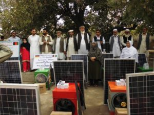 Zularistan Afghans with solar panels