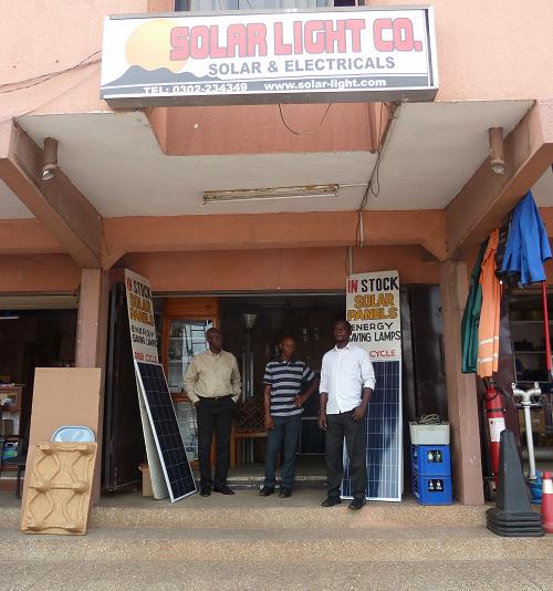 Solar Light Africa storefront in Ghana