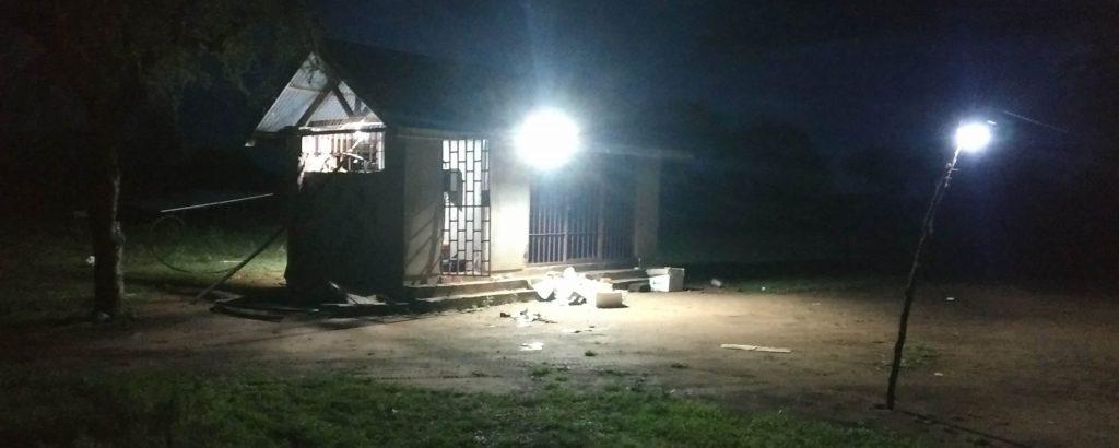 Ormoti borehole site at night